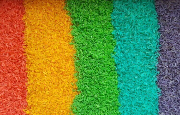 farvede ris
